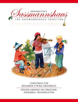 Christmas for Beginner String Ensembles 2 Violins-Viola-Violoncello (Score/Parts)