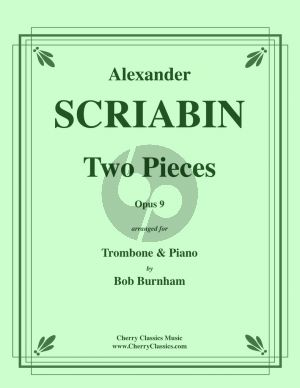 Scriabin 2 Pieces Op.9 Trombone and Piano