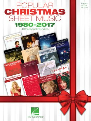 Popular Christmas Sheet Music – 1980-2017 Piano-Vocal-Guitar