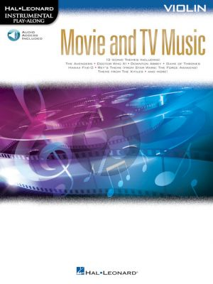 Movie and TV Music for Violin (Instrumental Play-Along) (Book with Audio online)