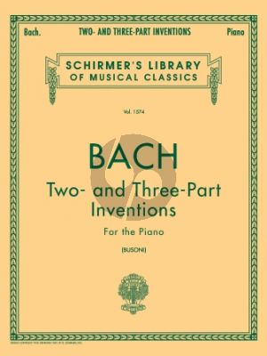 Bach Two and Three Part Inventions Piano (Busoni)
