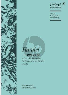 Handel Messiah 1741 HWV 56 Soli-Chor-Orchester (Klavierauszug von Andres Köhs) (herausgegeben von Malcolm Bruno und Caroline Ritchie)