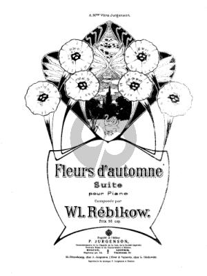 Rebikov Fleurs d'automne Piano solo