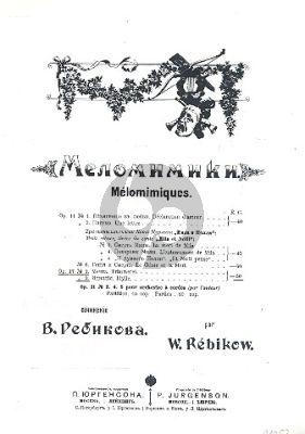 Rebikov Mélomimiques: Träumerei und Idylle Op.17 (Piano solo)