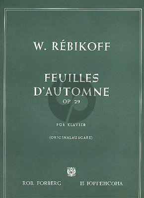 Rebikov Feuilles d'automne Op.29 (Piano solo)