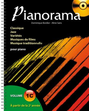 Pianorama Volume 1C (Livre avec CD) (Dominque Bordes et Alien Sans)