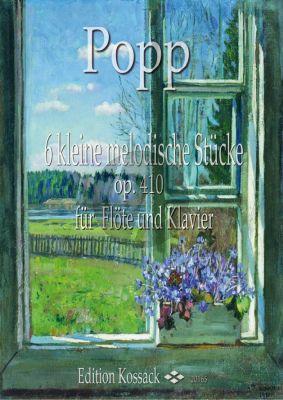 Popp 6 melodische Stücke Op.410 Flöte und Klavier