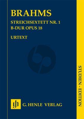 Brahms String Sextet No.1 B-flat major Op.18 Study Score (edited by Katrin Eich) (Henle-Urtext)