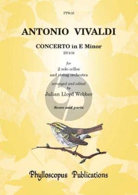 Vivaldi Concerto e-minor RV 409 ((2 Violoncellosand Orchestra Score and Parts) (edited by Julian Lloyd-Webber)