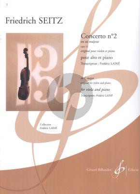Seitz Concerto No.2 C-major Op.13 Viola-Piano (transcr. Frédéric Lainé)