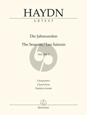 Haydn Die Jahreszeiten - The Seasons Hob. XXI:3 Choral Score (Armin Raab) (Barenreiter-Urtext)