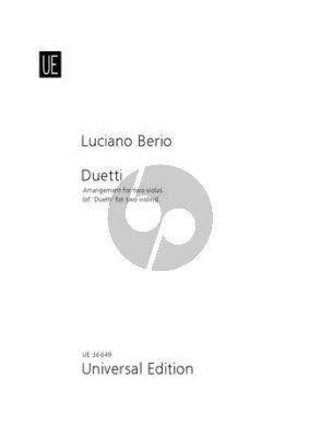 Duetti for 2 Violas (orig. 2 Violins)