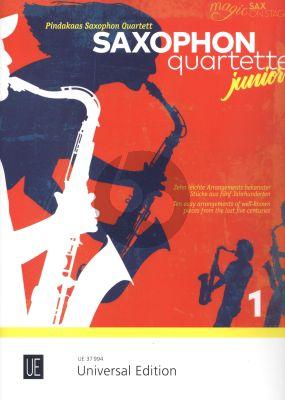 Saxophone Quartets Junior 1 for 4 Saxophones (AATB/AATT) (Score/Parts)