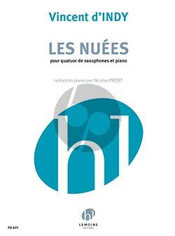 d'Indy Les Nuées 4 Saxophones et Piano (SAAT et piano) (Nicolas Prost)
