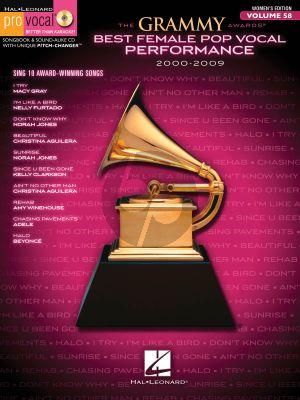 Grammy Award Best Female Pop Vocal Performance 2000-2009