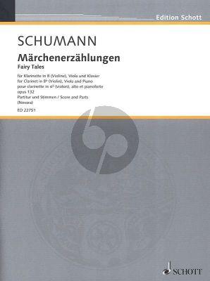 Schumann Märchenerzählungen Op.132 Klarinette[Vi.]-Viola-Klavier (Part./Stimmen) (Elisa Novarra)