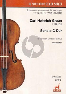 Graun Sonate C-Dur (Erstausgabe) (Herausgegeven Markus Möllenbeck mit einer Generalbass-Aussetzung von Wolfgang Kostujak)