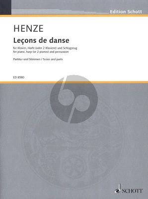 "Henze Leçons de danse Piano-Harp [or 2 Piano's]-Percussion (from the ballet ""Le fils de l'air - Der Sohn der Luft"") (Score/Parts)"