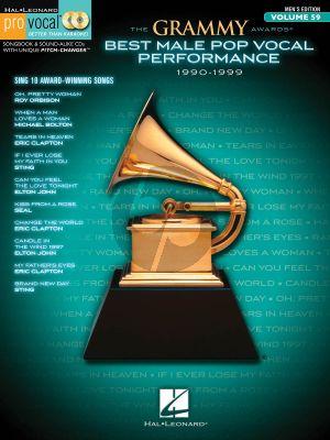 The Grammy Awards Best Male Pop Vocal 1990-1999