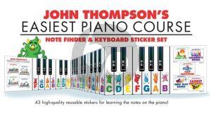 John Thompson's Note Finder & Keyboard Sticker Set