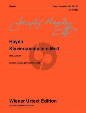 Haydn Sonata c-minor Hob. XVI:20 Piano (Landon-Leisinger-Levin and Jonas) (Wiener-Urtext)