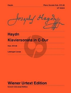 Haydn Sonata C-major Hob. XVI:48 Piano (Landon-Leisinger and Jonas) (Wiener-Urtext)