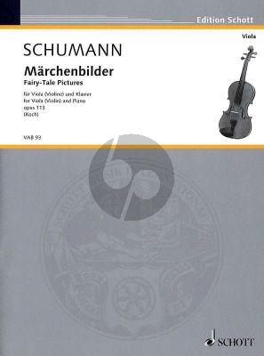 Schumann Marchenbilder Op.113 Violine [Viola]-Klavier (Armin Koch)