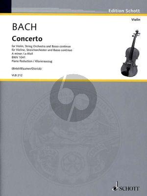 Bach Concerto a-minor BWV 1041 Violin-Strings-Bc (piano reduction) (edited by Wofgang Birtel)