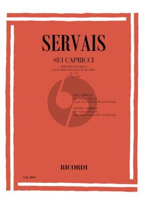 Servais 6 Caprices Op.11 (with 2nd cello accomp.) (Rocco Filippini)