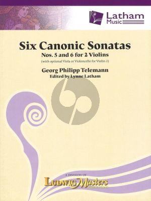 Telemann Six Canonic Sonatas No.5 and 6 for 2 Violins