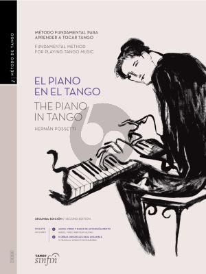 Possetti El Piano en El Tango (The Piano in Tango Spanish/English) (Book with Audio Online)