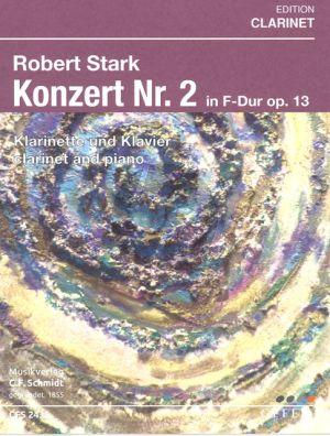 Stark Konzert No.2 F-dur Op.13 Klarinette und Orchester (Klavierauszug)