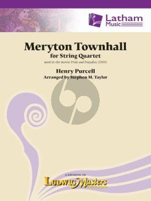 Purcell Meryton Townhall for String Quartet