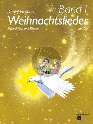 Hellbach Weihnachtslieder Band 1 Altblockflote - Klavier mit CD
