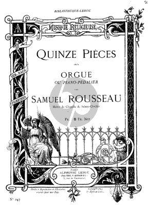 Rousseau 15 Stucke Vol.1 Orgel