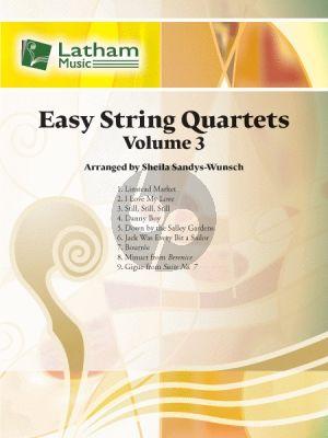 Easy String Quartets Vol.3 (Score/Parts) (arr. Sheila Sandys-Wunsch)