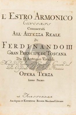 Vivaldi Concerto I D-major RV 549 (Op.3 No.1) 4 Violins-Violoncello-Strings and Bc (Score) (edited by Michael Talbot)