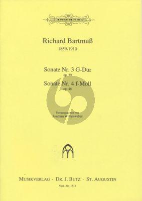 Bartmuss Sonaten G-Dur Opus 39,3 und f-Moll Opus 46,4 Orgel (Joachim Wollenweber)