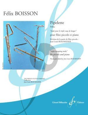 Boisson Pipelette (Polka) Piccolo et Piano (Triple tonguing study) (Jean-Louis Beaumadier)