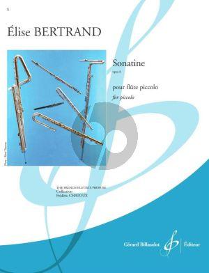 Bertrand Sonatine Opus 6 Piccolo seul
