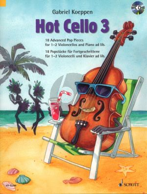 Koeppen Hot Cello Volume 3 - 18 Advanced Pop Pieces