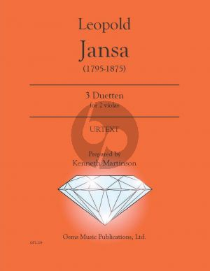 Jansa 3 Duetten 2 Violas (Prepared and Edited by Kenneth Martinson) (Urtext)