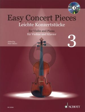 Easy Concert Pieces Volume 3 for Violin and Piano with Cd