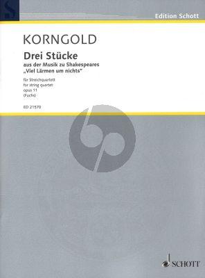 Korngold Drei Stücke Opus 11 for String Quartet