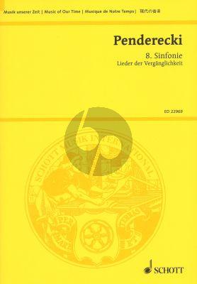 Penderecki Sinfonie No. 8 Study Score