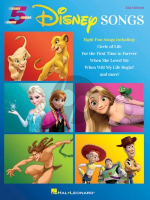 Disney Songs - 5 Finger Piano Songbook (2nd. edition)
