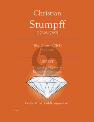 Stumpff Six Duos Op. 15 - 2 Violas (1783) (Prepared and Edited by Kenneth Martinson) (Urtext)