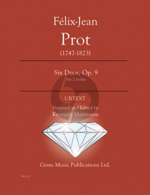 Prot Six Duos Op. 9 - 2 Violas (Prepared and Edited by Kenneth Martinson) (Urtext)
