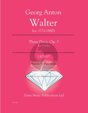 Walter 3 Duos Op. 3 - 2 Violas (Prepared and Edited by Kenneth Martinson) (Urtext)