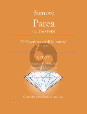 Parea 30 Divertimenti di Minuette - 2 violas (Prepared and Edited by Kenneth Martinson) (Urtext)